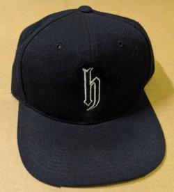 画像1: DJ HONDA HAT 黒 白の縁どりロゴ 帽子 CAP です Y1  後程済
