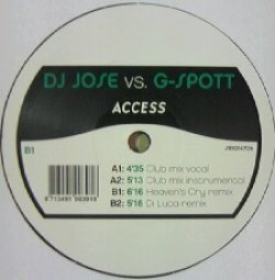 画像1: $$ DJ JOSE VS. G-SPOTT / ACCESS (SR 1014706) YYY214-2328-5-15