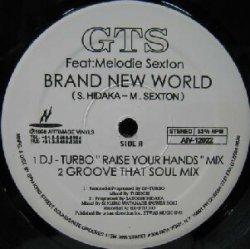 """画像1: $ GTS / BRAND NEW WORLD (AIV-12022) DJ-TURBO""""RAISE YOUR HANDS""""MIX YYY82-1505-17-17"""